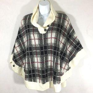 TALBOTS || new sweater cape shawl